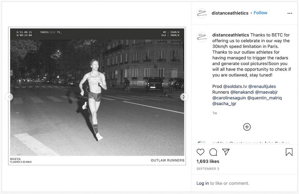 Body image for Athletics store challenges runners to break the speed limit in PR stunt