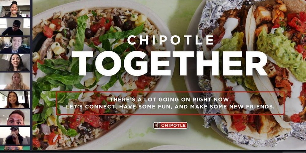 Body image for Chipotle invites fans to virtual lunch amid Covid-19 pandemic