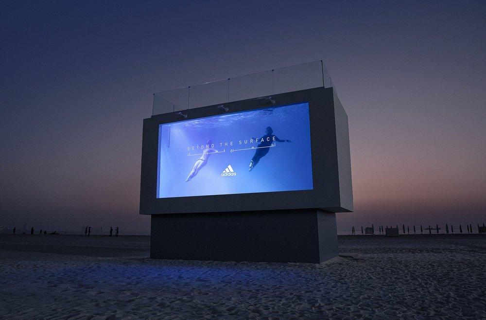 Body image for Adidas UAE creates 'swimmable' billboard to promote swimwear range