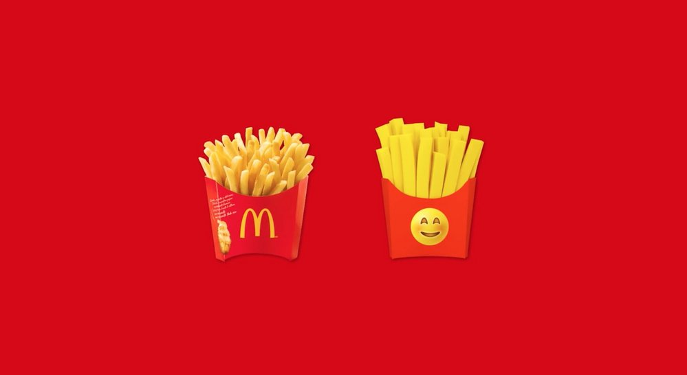 Body image for McDonald's Costa Rica claims fries emoji for its own