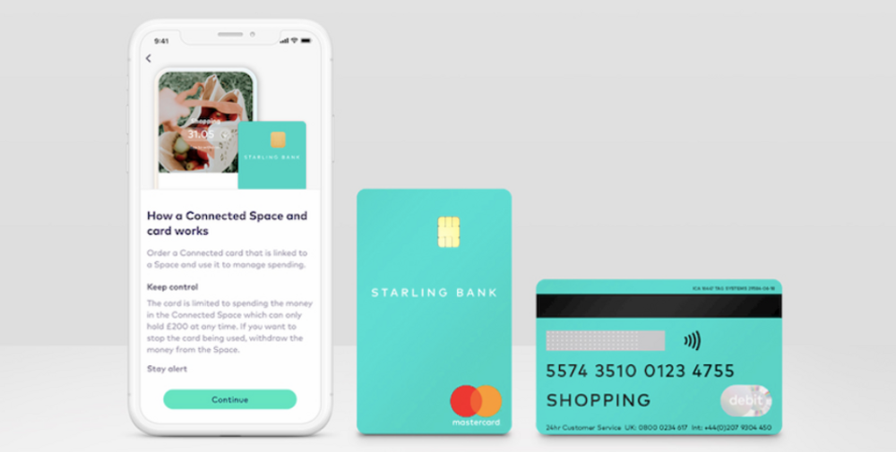 Body image for Starling Bank issues secure sharing debit card for self isolators