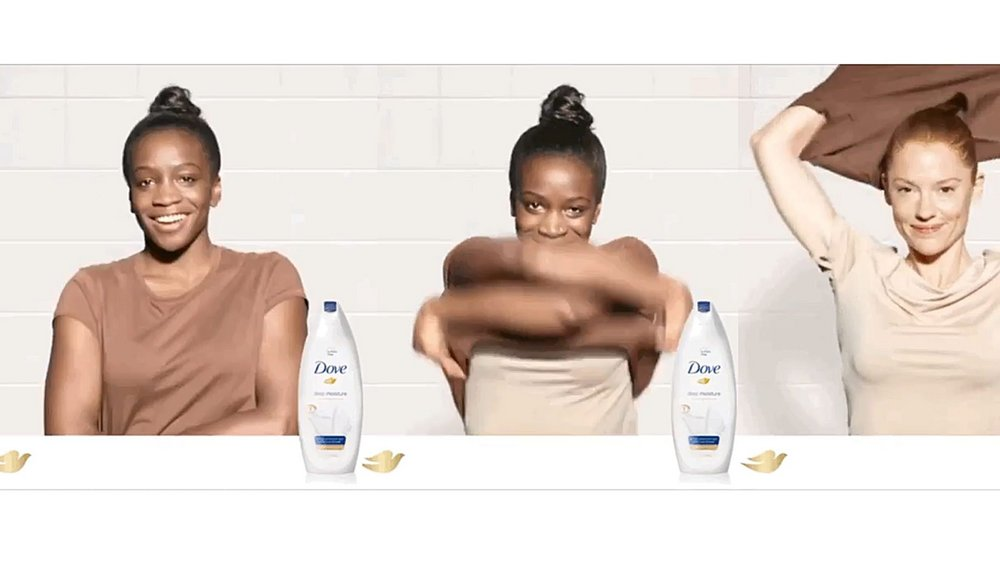 Dove was called out for racism when a Facebook ad from the brand showed a black woman pulling her tshirt over her head and becoming a white woman