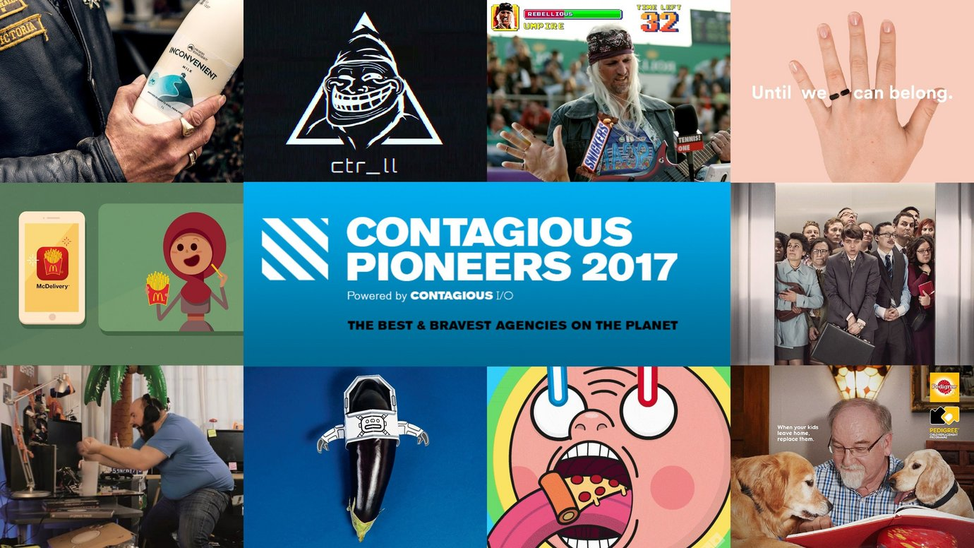Header image for article Contagious Pioneers 2017: the best and bravest agencies on the planet