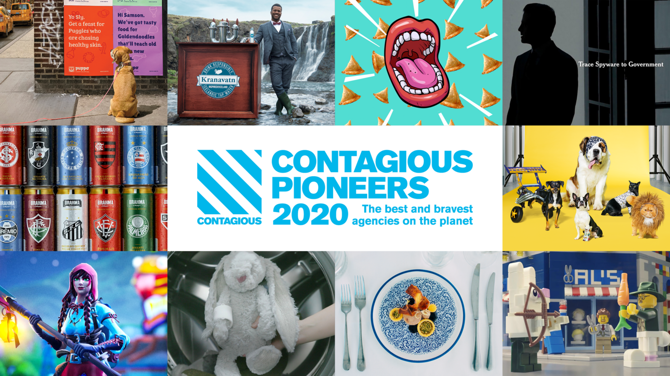Header image for article Contagious Pioneers 2020: the best and bravest agencies on the planet