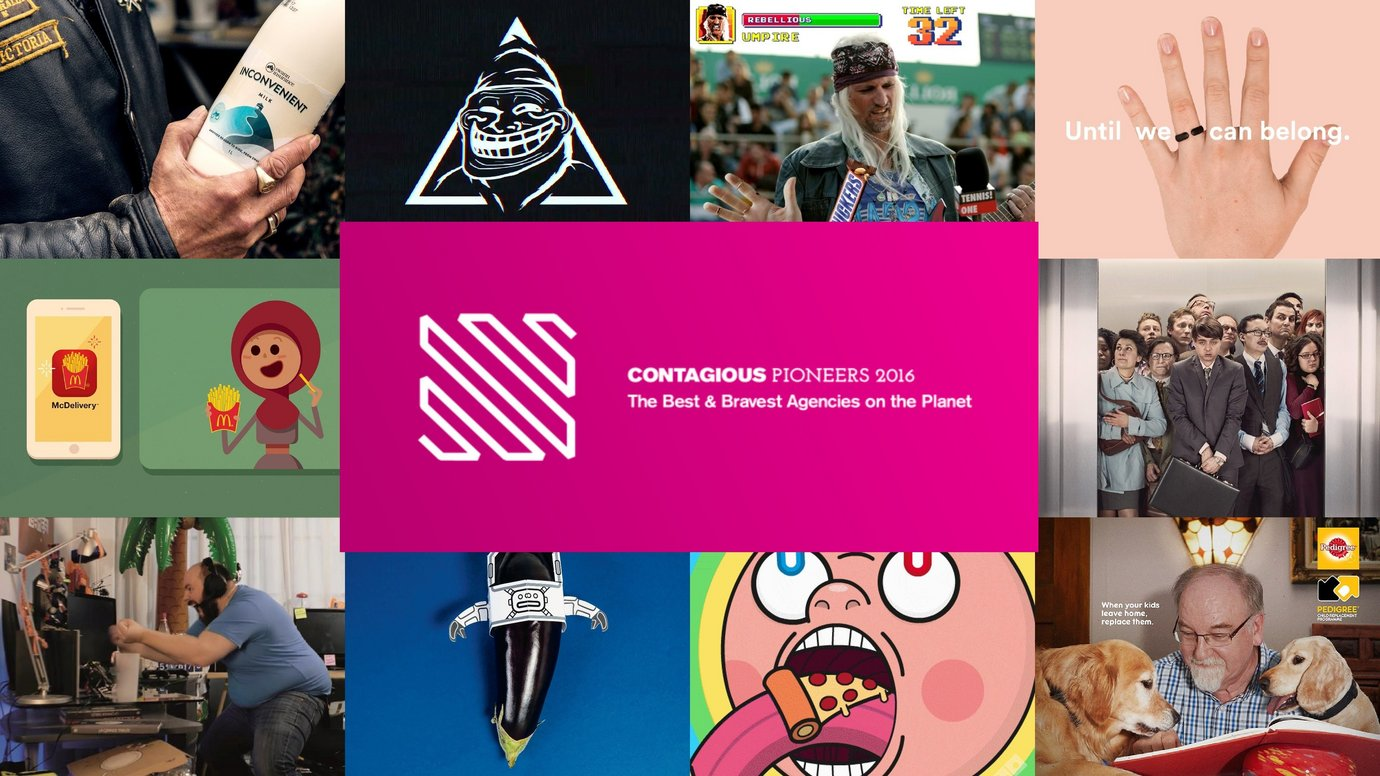 Header image for article Contagious Pioneers 2016: the best and bravest agencies on the planet