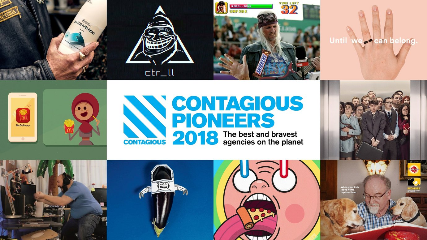 Header image for article Contagious Pioneers 2018: The best and bravest agencies on the planet