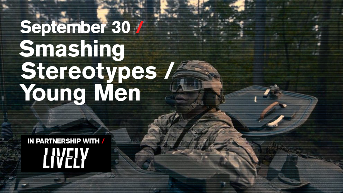 Header image for article Smashing Stereotypes / Young men: Free live stream