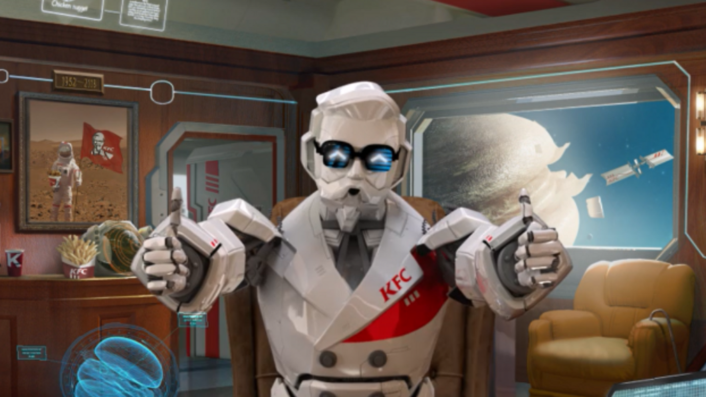 Header image for article KFC China campaign turns Colonel Sanders into esports analyst