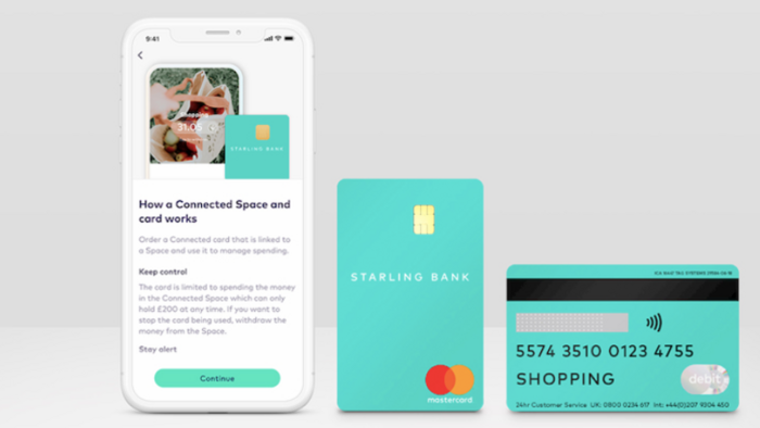 Starling Bank issues secure sharing debit card for self isolators