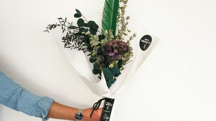 Florist creates 'bouquets for men' for mental health campaign