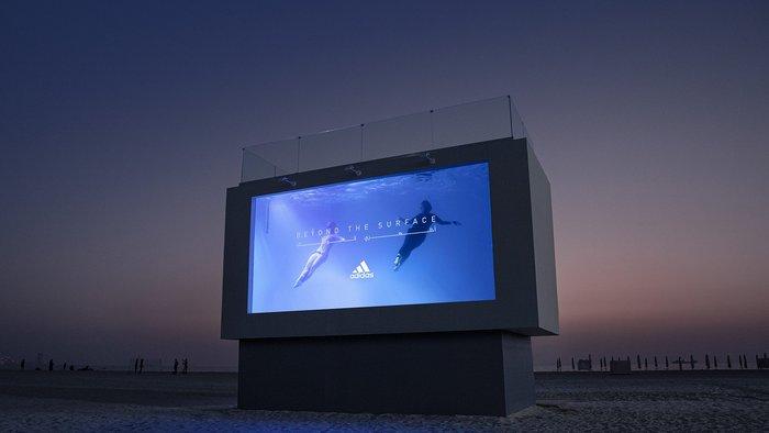 Adidas UAE creates 'swimmable' billboard to promote swimwear range