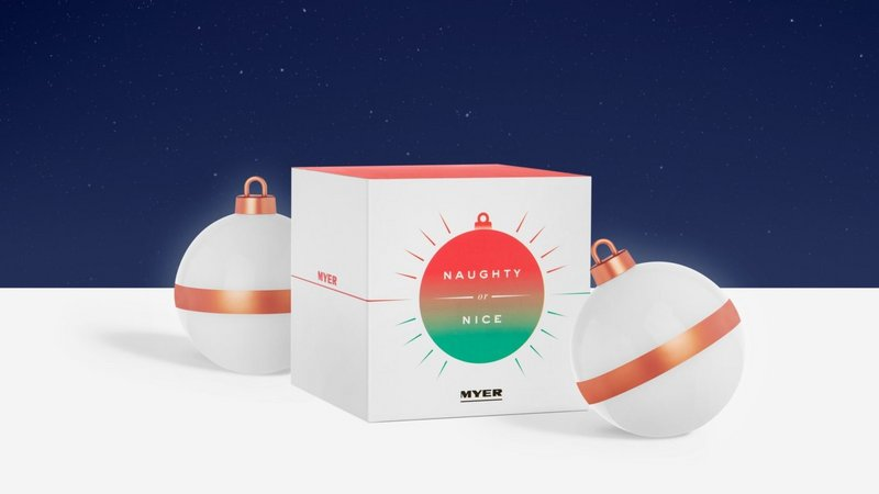 Myer, Naughty or Nice Baubles