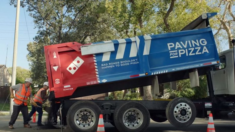 Campaign of the Week: Domino's Pizza, Paving For Pizza